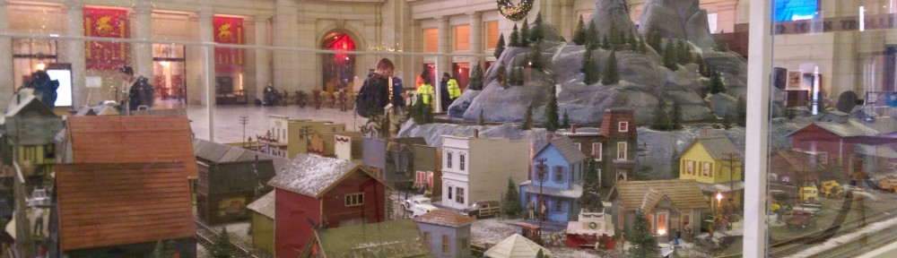 Christmas train layout in Union Station in Washington DC