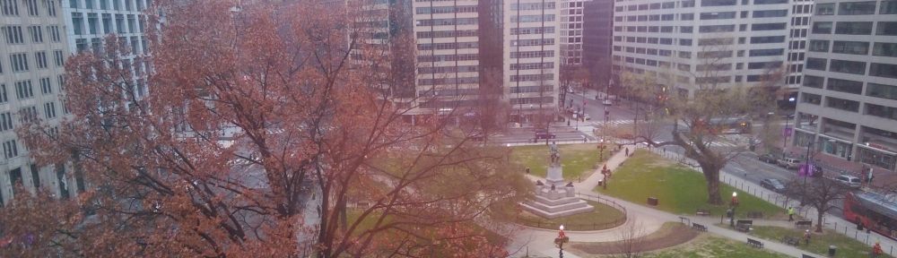 Farragut Square on cold December day