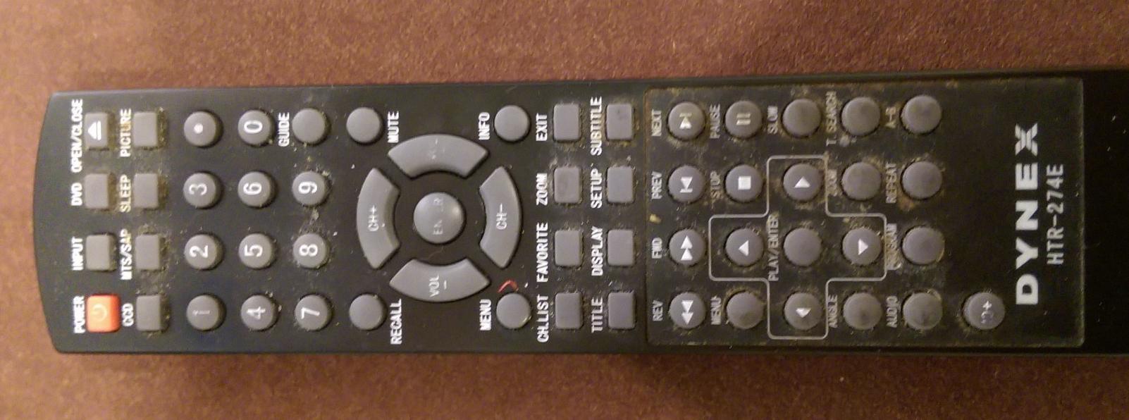 Kitchen TV Remote
