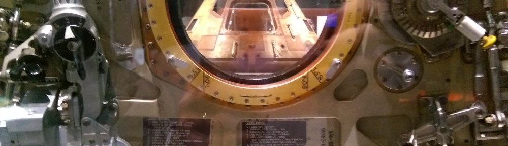 Looking through Apollo 11 hatch at Apollo 11 Capsule