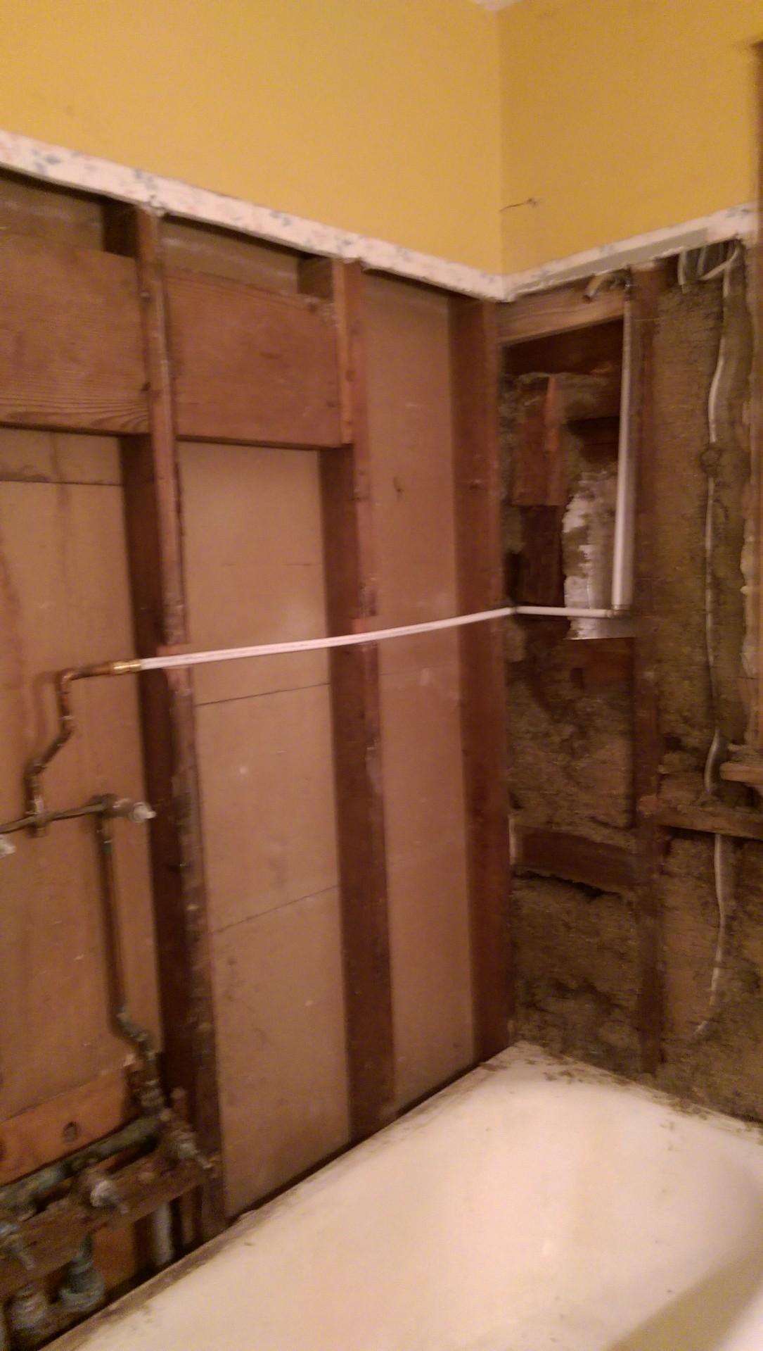 New plumbing in bathroom
